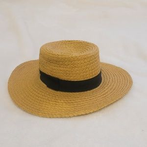 H&M straw boater hat